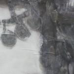 626P – Dauru, serie Goddesses of Nibiru (Fragmento 1) 153 x 123cm Tinta, acrilico y oleo sobre tela y base de metacrilato retroiluminado