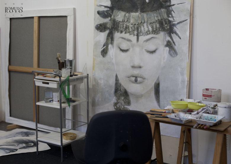 work-in-progress-in-estudio-of-Romulo-Royo-616P-Goddesses-of-Nibiru