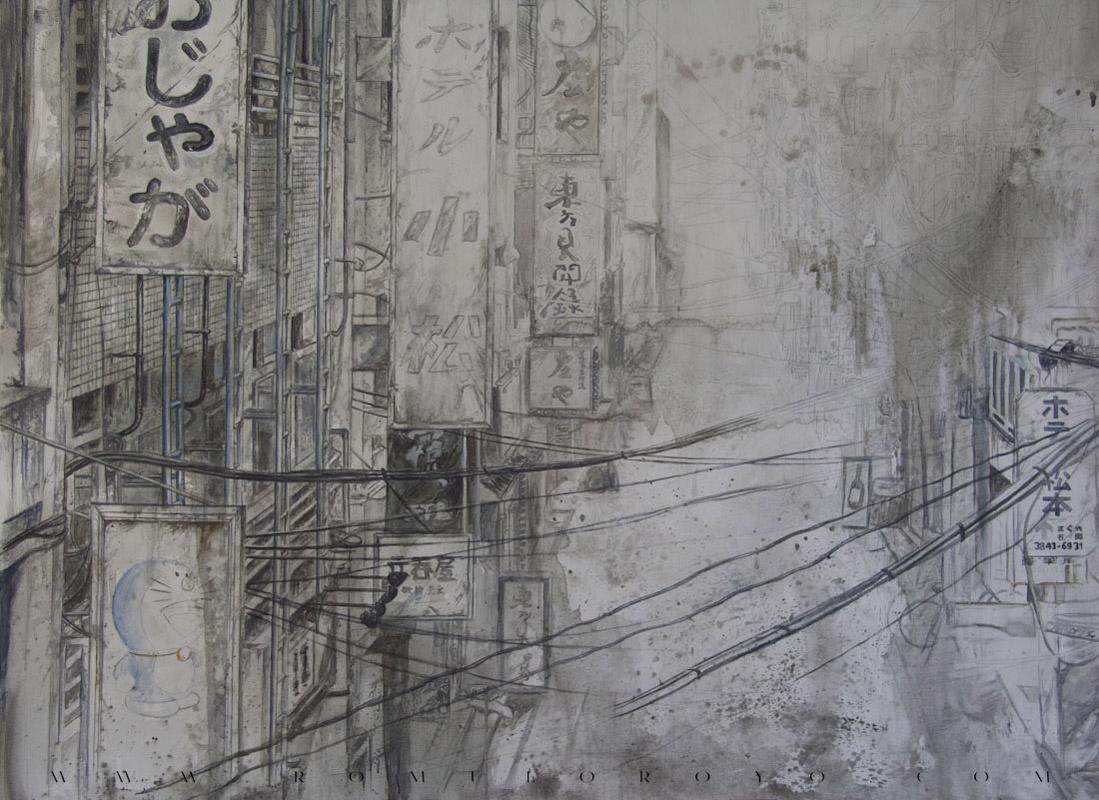7507-Malefic-Time-110-Katanas-Tokio-2038---Definiendo-formas-y-volumenes-con-acrilico-Primeros toques