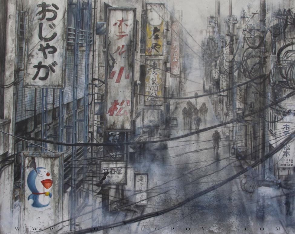 7545-Malefic-Time-110-Katanas---Tokio-2038---Pasando-por-todo-el-cuadro-de-nuevo-con-oleo-dando-color-y-viveza-al-cuadro