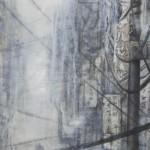 Pg. 2 – 3 Malefic Time: 110 Katanas, Tokyo 2038 (Fragmento 2) 130 x 162 cm Acrylic and oil on canvas