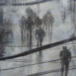 Pg. 2 – 3 Malefic Time: 110 Katanas, Tokyo 2038 (Fragmento 1) 130 x 162 cm Acrylic and oil on canvas
