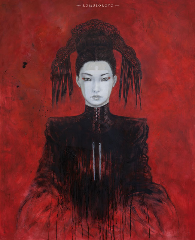 601P-162x130cm-JaponicasIII-Ink-acrylic-and-oil-on-canvas-Romulo-Royo