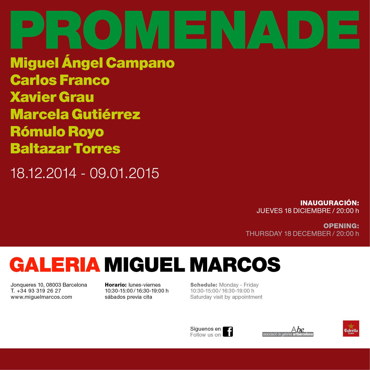 PROMENADE MIGUEL MARCOS GALLERY INVITATION