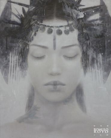 7-626P-153x123cm-Goddesses-of-Nibiru-Ink-acrylic-and-oil-on-methacrylate-Romulo-Royo-2