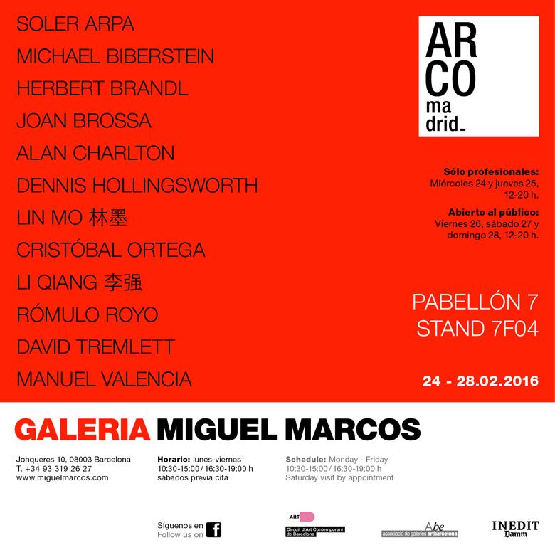 Invitacion ARCO2016 MiguelMarcos