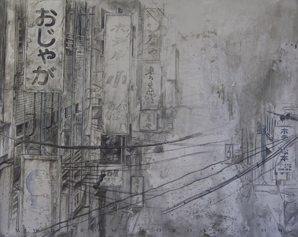 7512-Malefic-Time-110-Katanas-Tokio-2038---Definiendo-formas-y-volumenes-con-acrilico-Pasando a los carteles