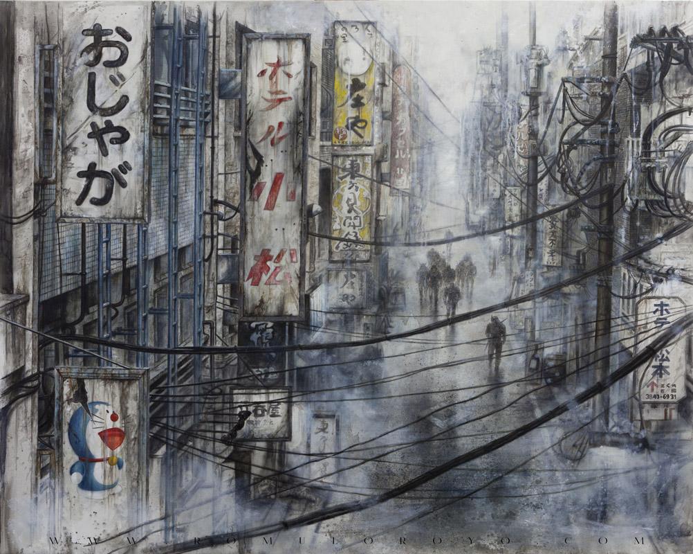 7820-Malefic-Time-110-Katanas---Tokio-2038---Pasando-por-todo-el-cuadro-de-nuevo-con-oleo-dando-color-y-viveza-al-cuadro-(Terminada)