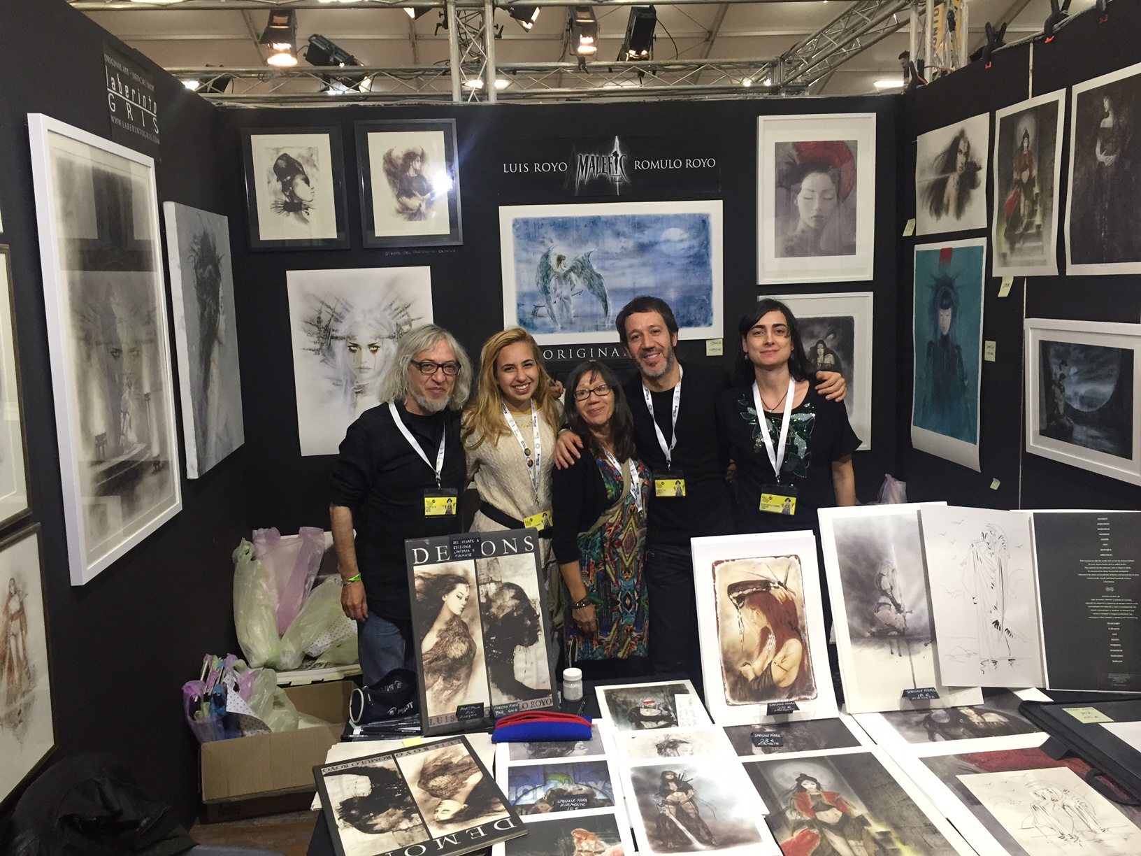 Romulo Royo, Luis Royo, Laberinto Gris - stand Lucca Games and Comics 2016 Gold